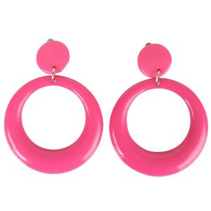 Round Pink Clip-on Earrings