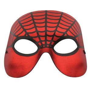 Spider Red with Black Web Eye Mask