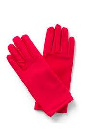 Short Red Nylon Gloves
