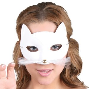 Tabby Cat White Eye Mask