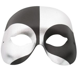 VOODOO Black & Silver Eye Mask