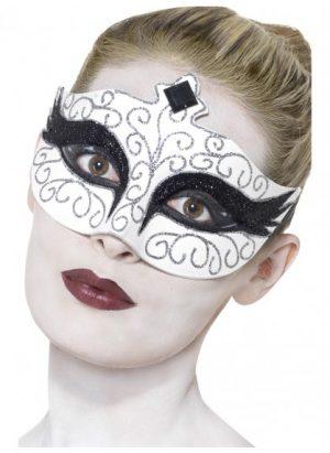 White Gothic Swan Eyemask