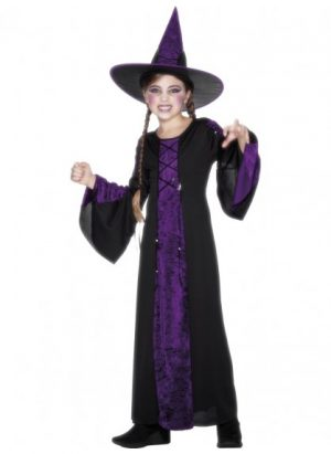 Witch Black and Purple Bewitched Costume