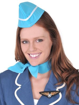 Air Hostess Set - Hat, Scarf & Badge
