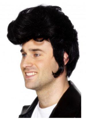 Black Rockstar Wig Danny Grease Elvis