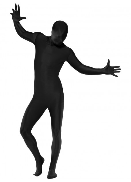 Black Second Skin Suit Costume Morph Suit