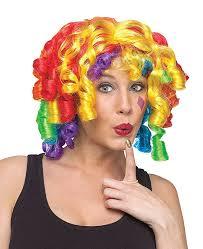 Clown Rainbow Crazy Curlz Wig