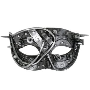 Mortimer Steampunk Silver Eye Mask