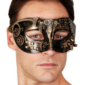 Sinclair Gold Steampunk Eye Mask