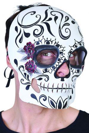 Sugar Skull Black & White Mask Day of the Dead