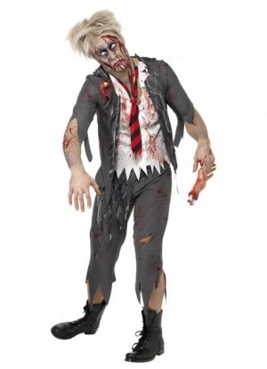 Zombie High School Horror School Boy