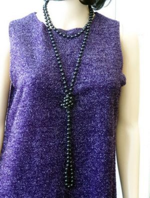 Beads Flapper - Black 183 cm