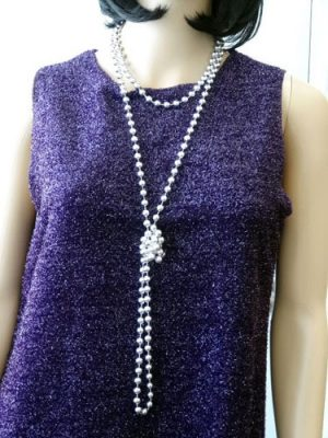 Beads Flapper - Silver 183 cm