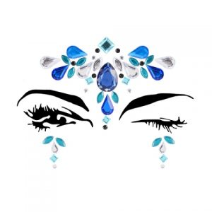 Diamante Rhinestone Jewels Glitter Stickers Silver Blue Green