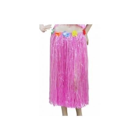 Hawaiian Hula Skirt Hot Fuschia Pink