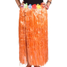 Hawaiian Hula Skirt Orange