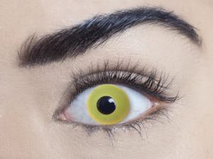 Yellow 1 Day Contact Lens