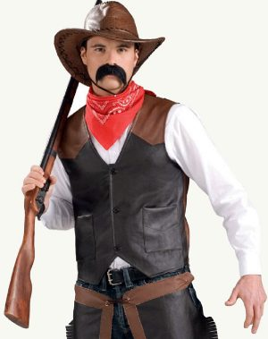 Deluxe Cowboy Faux Leather Vest