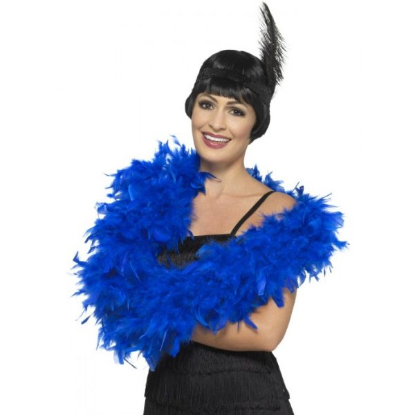 Deluxe Feather Boa, Royal Blue