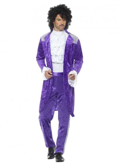 Prince 80s Purple Rain Musician Costume