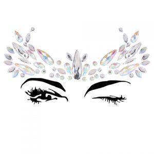 forehead white gem costume