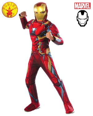 Iron Man Deluxe CW Costume Child - image Iron-Man-Deluxe-CW-Costume-Child on https://www.abracadabrafancydress.com.au