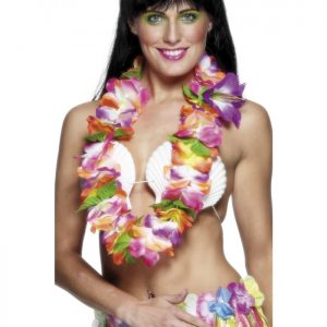 Hawaiian Beauty Costume - image Hawaiian-Lei-with-Large-Bright-Flowers-300x300 on https://www.abracadabrafancydress.com.au