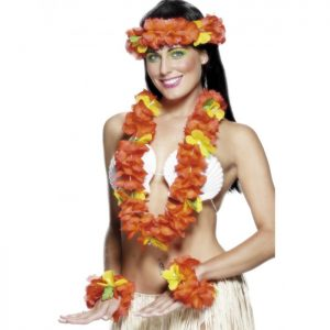 Hawaiian Hula Skirt Leaf Skirt (20 palm leaves) - image Red-Hawaiian-Set-300x300 on https://www.abracadabrafancydress.com.au
