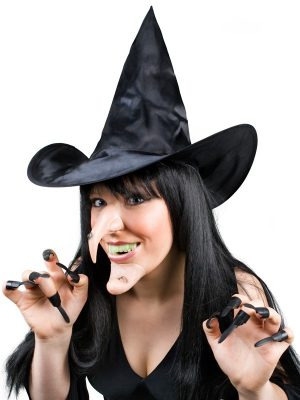 Witch Set - Hat, Nose, Chin, Teeth & Claws