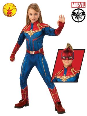 Captain Marvel Deluxe Hero Suit Child