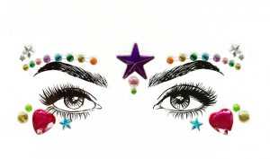 Diamante Rhinestone Face Jewels Glitter Stickers - Pride