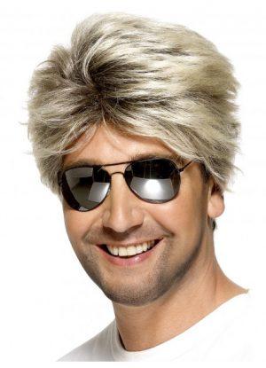 Blonde 80's Street Wig George Michael Wham