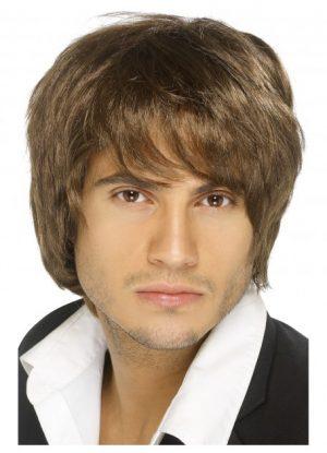 Brown Boy Band Wig Austin Powers