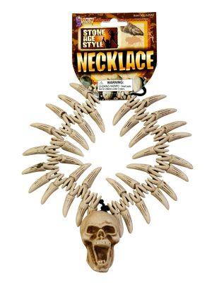 Stone Age Teeth & Skull Necklace