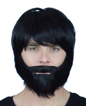 Beard and Moustache Grey - image Beard-Black-Synthetic-With-Elastic-300x369 on https://www.abracadabrafancydress.com.au