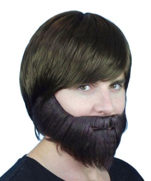 Beard and Moustache Grey - image Beard-Brown-Synthetic-With-Elastic-300x359 on https://www.abracadabrafancydress.com.au