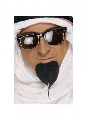Beard and Moustache Grey - image Black-Fake-Sheikh-Beard-300x415 on https://www.abracadabrafancydress.com.au