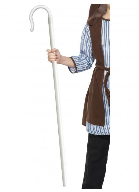 White Shepherds Bo Peep Cane Staff Crook Costume Accessory
