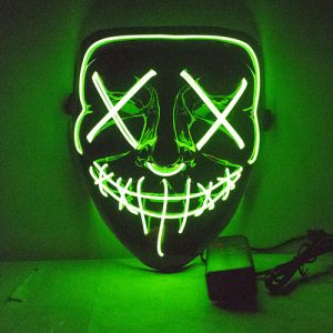 Mexican Day Of The Dead Eyemask - image Mask-The-Fluro-Green-Purge-300x300 on https://www.abracadabrafancydress.com.au