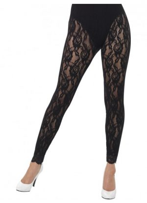 80's Lace Footless Tights Leggings Black - image 80s-Lace-Leggings-Black-300x415 on https://www.abracadabrafancydress.com.au