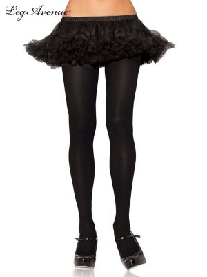 80's Lace Footless Tights Leggings Black - image Black-Nylon-Tights-300x400 on https://www.abracadabrafancydress.com.au