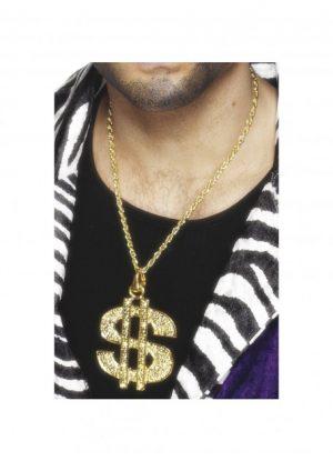 Disco Ball Earrings - image Dollar-Sign-Medallion-300x415 on https://www.abracadabrafancydress.com.au