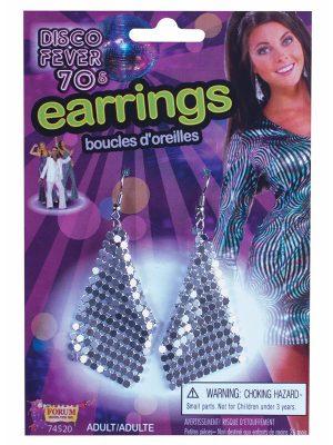 Disco Ball Earrings - image Earrings-Mesh-Silver-Pierced-300x400 on https://www.abracadabrafancydress.com.au