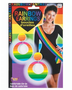Necklace Chunky Gold Chain - image Rainbow-Earrings-300x375 on https://www.abracadabrafancydress.com.au