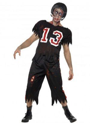 Zombie Cowboy Costume Adult Halloween - image High-School-Horror-American-Footballer-Costume-300x415 on https://www.abracadabrafancydress.com.au
