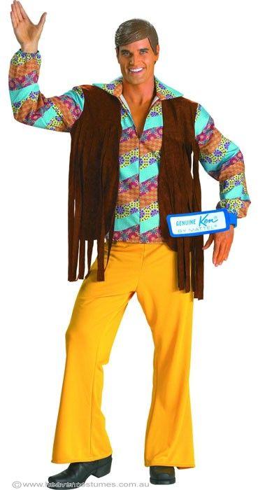 60's Ken Barbie Hippie Deluxe Costume Adult Hippy - image Ken-Barbie on https://www.abracadabrafancydress.com.au