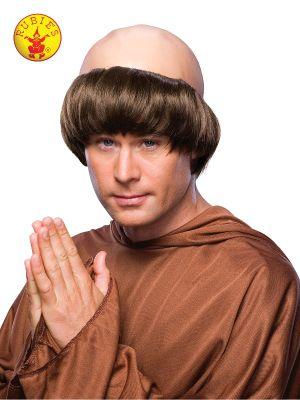 Medieval Monk Adult Wig - image MONK-WIG-ADULT on https://www.abracadabrafancydress.com.au