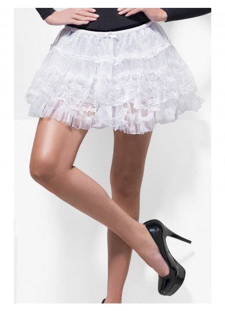 White Fever Boutique Lace Petticoat Tutu Skirt - image White-Fever-Boutique-Lace-Petticoat on https://www.abracadabrafancydress.com.au