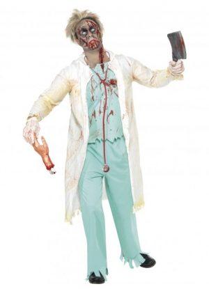 Zombie Cowboy Costume Adult Halloween - image Zombie-Doctor-Costume-300x415 on https://www.abracadabrafancydress.com.au