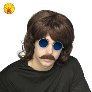 70's Brown Shag Wig - image 70S-BROWN-SHAG-WIG on https://www.abracadabrafancydress.com.au